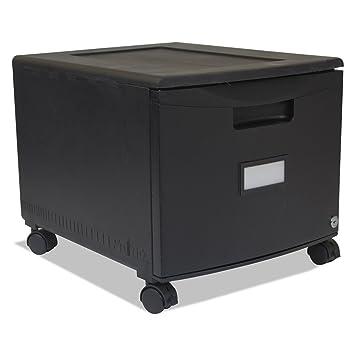 Amazon.com : Storex Single Drawer Mini File Cabinet with Lock and ...