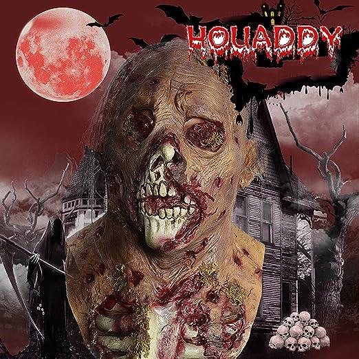 HOUADDY Máscara de látex Zombie de Halloween Disfraz de Terror ...