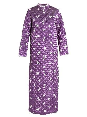 Ladies quilted dressing gown plum print 14/16: Amazon.co.uk: Clothing : ladies quilted dressing gowns - Adamdwight.com