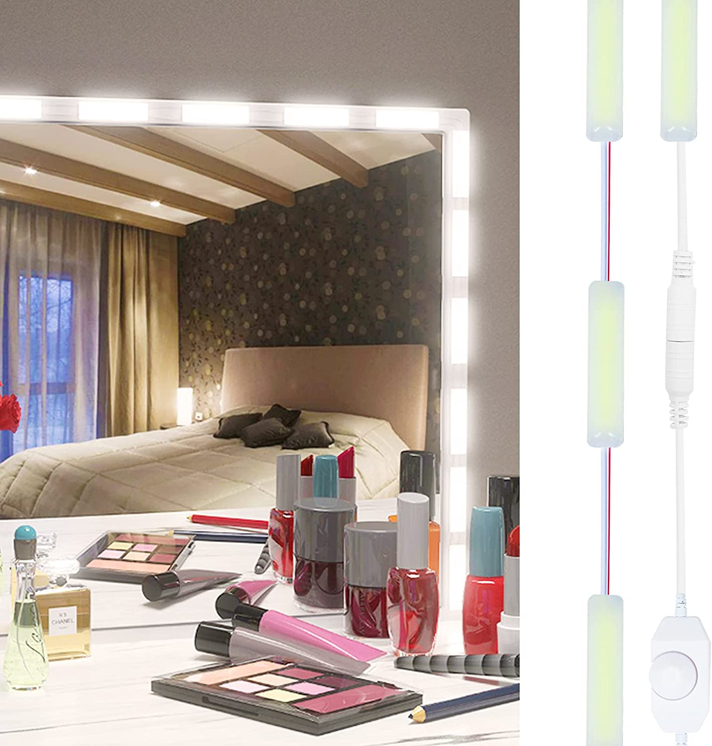 LED Vanity Mirror Lights, Hollywood Style Make Up Light 30PCS Ultra Bright White Dimmable Lights for Makeup Vanity Bathroom Mirror Ceremony Home Background Decoration, Mirror Not Included(30 in Set)