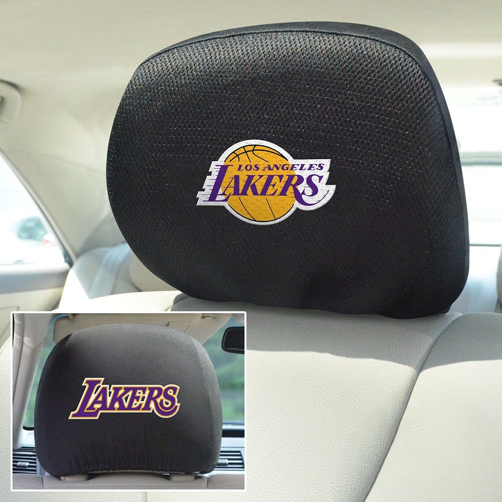 Fanmats NBA Los Angeles Lakers Head Rest Cover 10''x13''