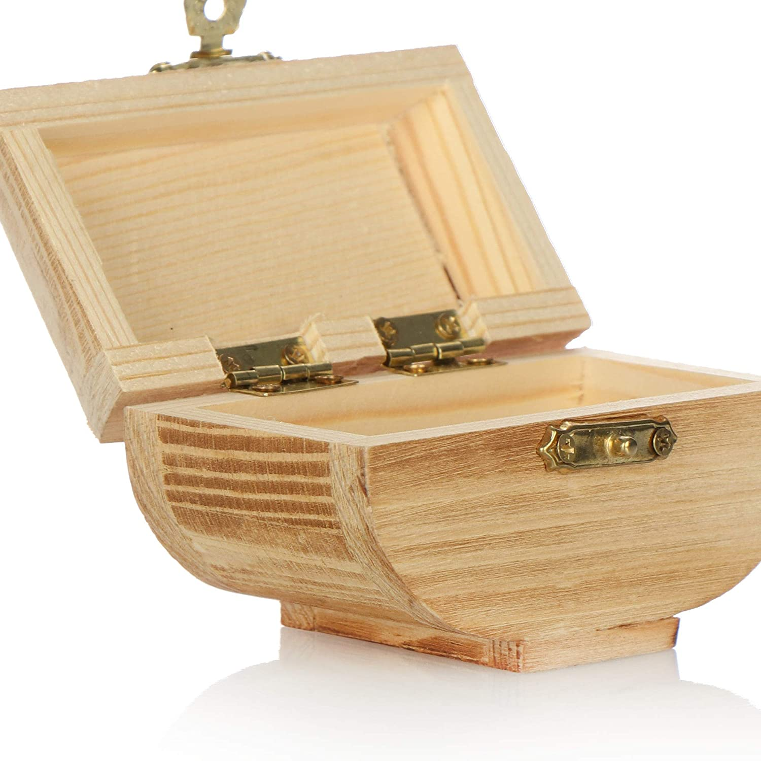 wooden box wooden box jewelry box com-four/® 2x wooden box for storing jewelry decorative jewelry box 2 pieces - chest small wooden box with lid
