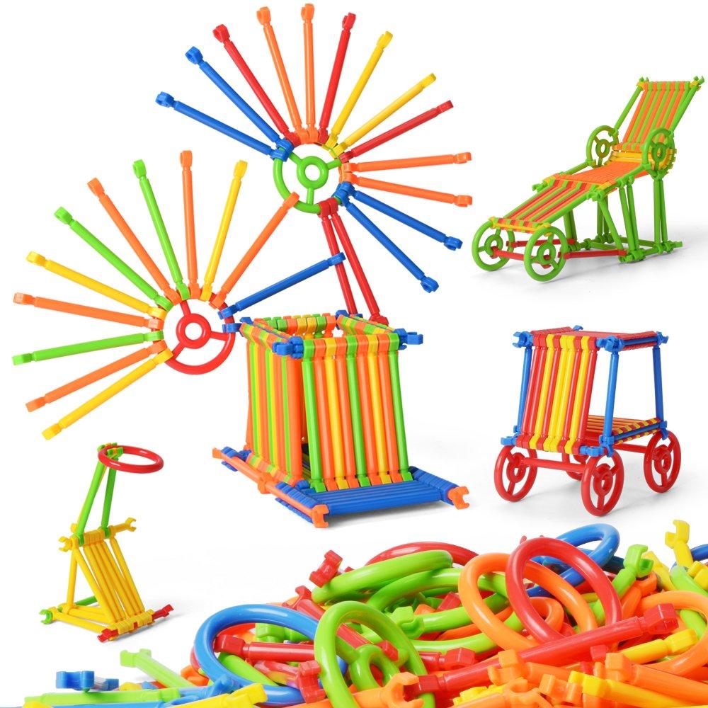 NextX Building Construction Toy 300 PCS Creative Plastic Engineering Toys 3D Puzzle Toys Educational Building Blocks For Kids