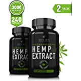 (2 Pack) Hemp Oil Capsules for Pain Relief Anxiety (3000mg / 240 Pills) Best Natural Organic Hemp Seed Oil Extract for Anti Inflammatory, Anxiety, Pain Relief, Sleep - 100% Pure Hemp Supplements