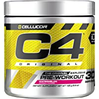 Cellucor C4 Original Pre Workout Powder Energy Drink Supplement For Men & Women with Creatine, Caffeine, Nitric Oxide Booster, Citrulline & Beta Alanine, Watermelon, 30 Servings