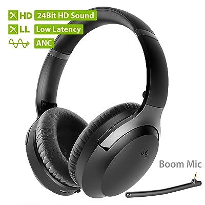 Avantree Aria Pro aptX-HD 24 Bit Hi-Fi Bluetooth 5.0 Active Noise Cancelling Headphones