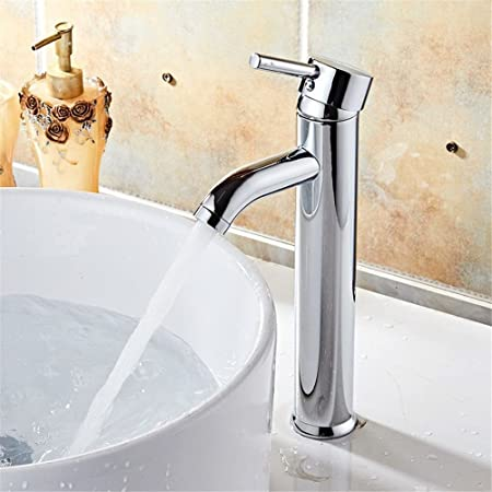 Commercial Bathroom Sink Taps S.Twl.E Sink Mixer Tap Faucet Bathroom Kitchen Basin Tap Leakproof Save Water Copper Nozzle Single Cold Water Janitorial & Sanitation Supplies