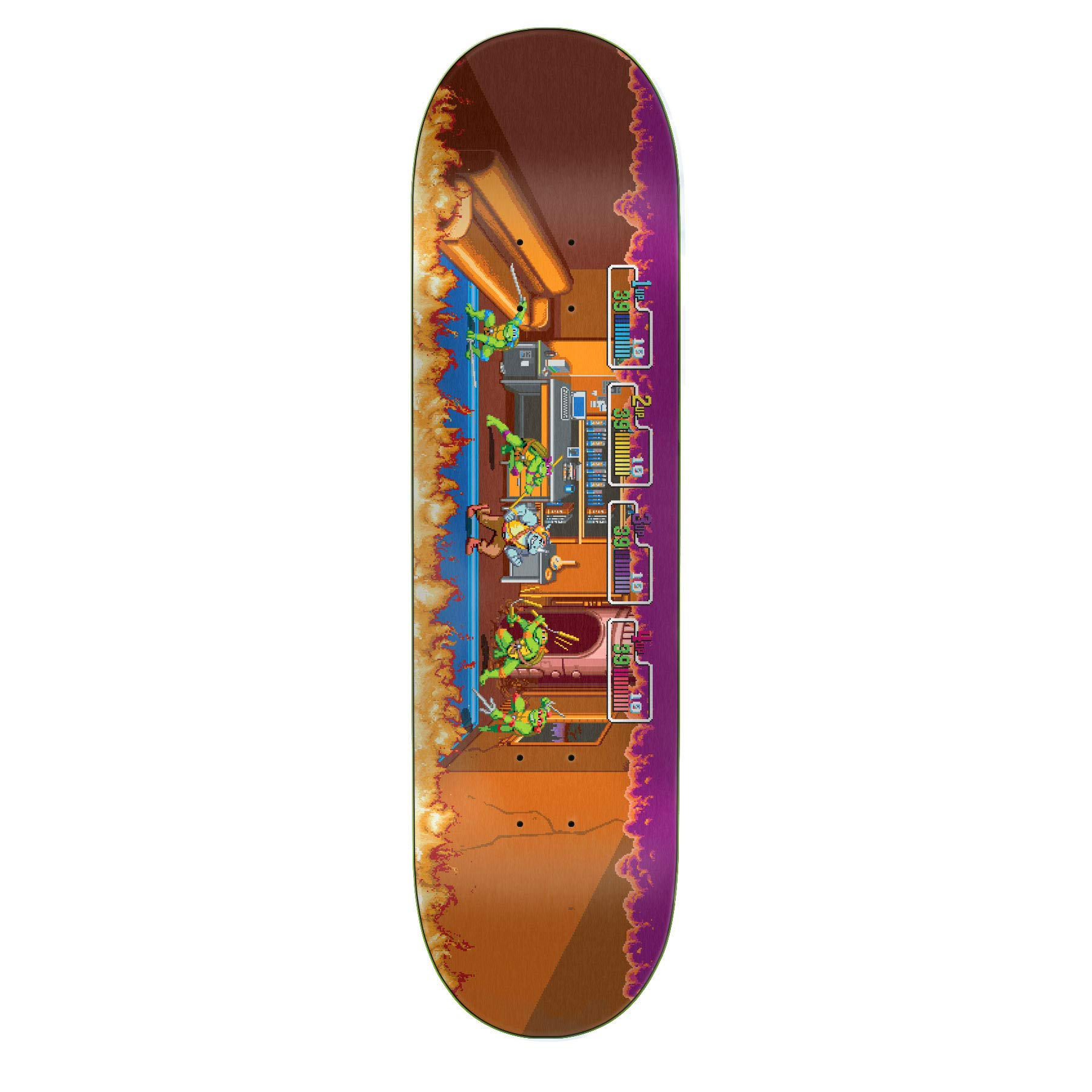Santa Cruz TMNT Arcade Everslick Skateboard Deck,Assorted,8.5'' L x 32.2'' W