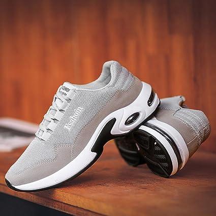 Scarpe Da Ginnastica Corsa Sportive Running Respirabile Basse Waliking Sneakers  Uomo Moda Solido Colore Cross Legato Ventilazione Shock Assorbimento Scarpe  ... de0a4252b04