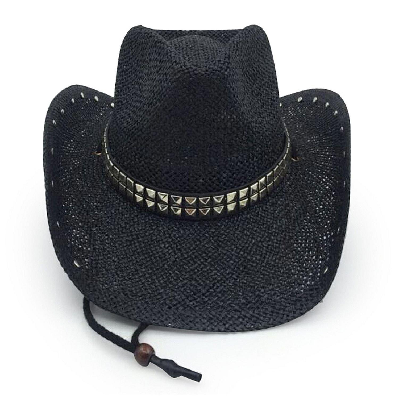AccessHeadwear Old Stone Rockstar Men's Women's Unisex Cowboy Drfiter Style Hat, Black