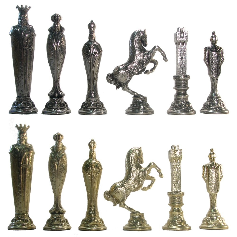 5 1/2'' Ultraweight Metal Renaissance Chess Pieces by Italfama