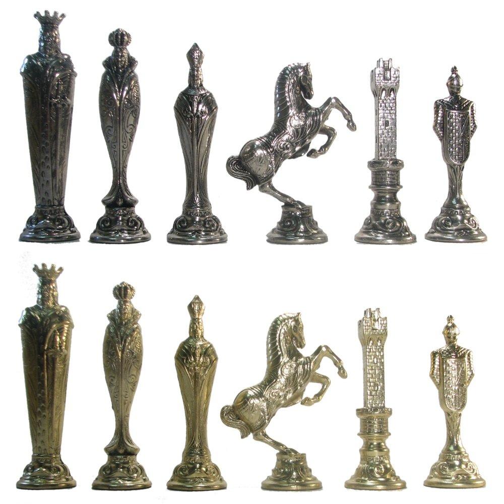 5 1/2'' Ultraweight Metal Renaissance Chess Pieces