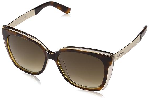Jimmy Choo Damen Sonnenbrille Maty/S V6 17C, Gold (Gdbw Glitter/Brown Sf), 58