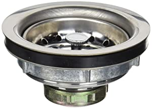 Everflow 7516 Kitchen Sink (3-1/2 Inch) Stainless Steel Drain Assembly With Strainer Basket - and Water Stopper