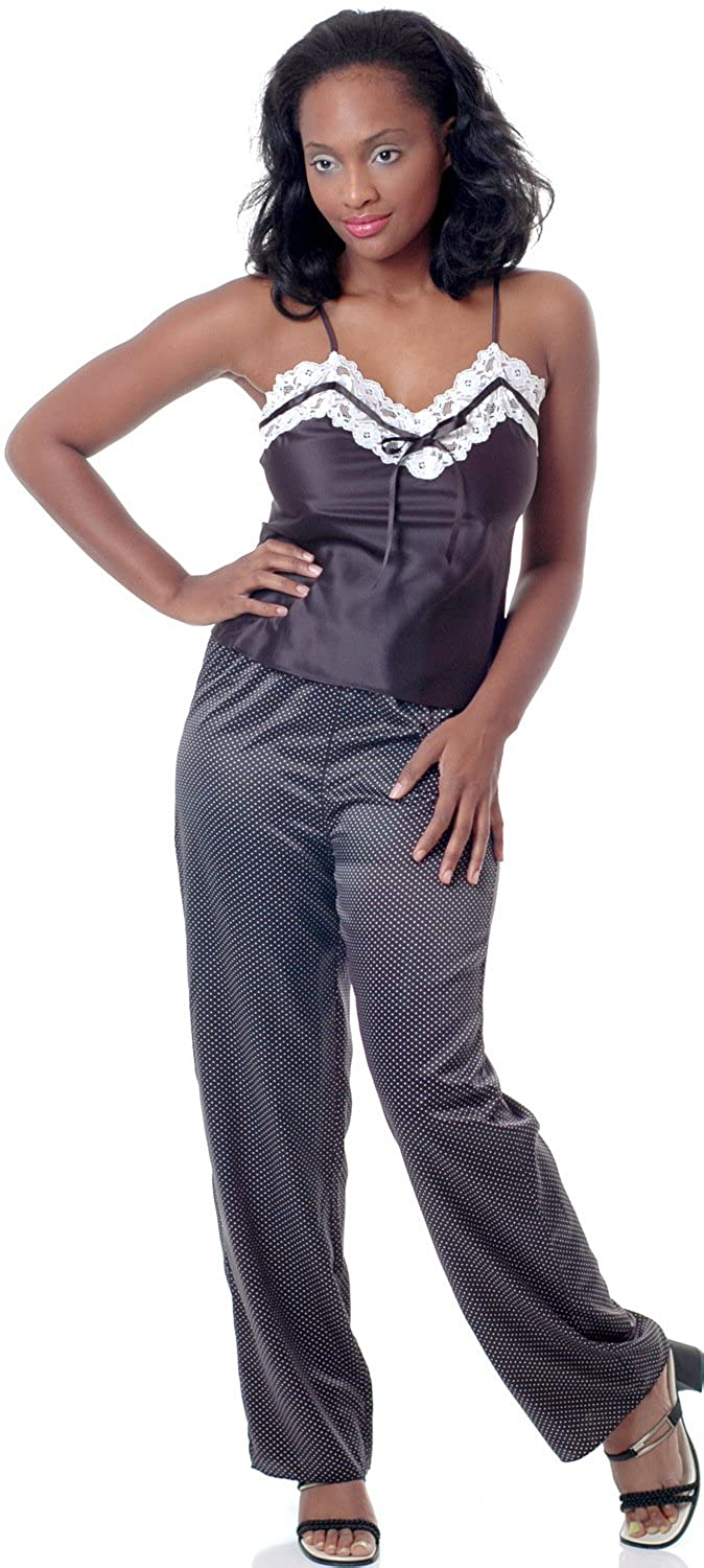 09bf01dfc0 Women's Plus Size Satin Camisole Pajama Set #2067x at Amazon Women's  Clothing store: