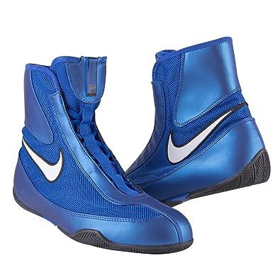 best service 091a2 4d5c9 Amazon.com  Nike Machomai Boxing Shoes - Blue - Size 10  Shoes