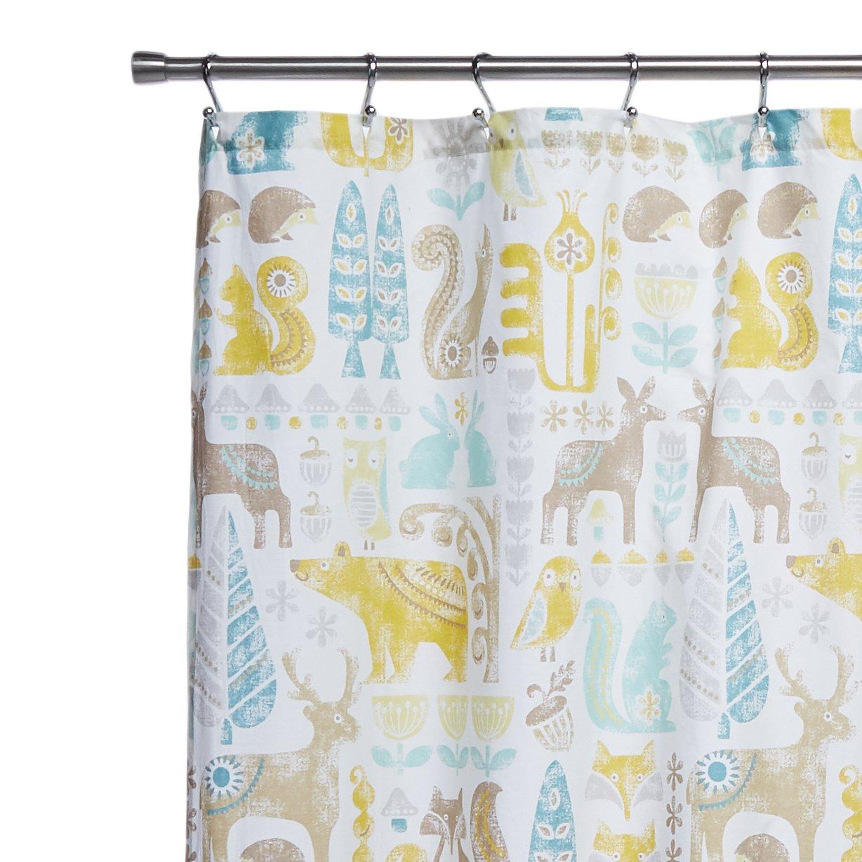 Amazon.com: INK+IVY Kids II70-646 Woodland Cotton Shower Curtain, 72 ...