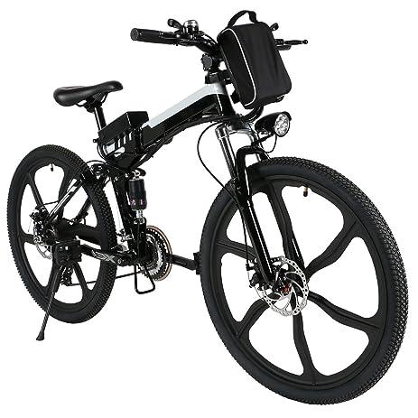 Amazon Com Electric Fat Bike Mountain Bicycle Snow Bike Cruiser