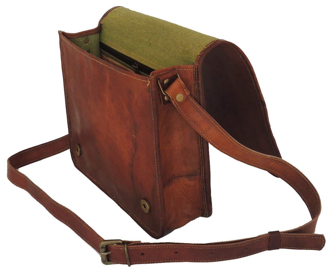 Leather bag Fair Deal / Full flap bag / laptop bag / best computer shoulder briefcase /  Handmade leather bag messenger bag for I pad / brown bag  by Fair Deal (Image #3)