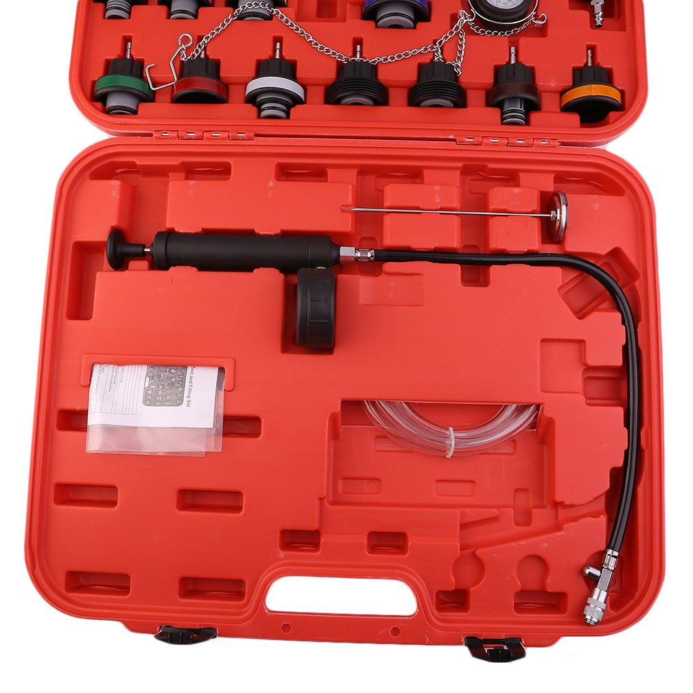 CATUO Universal Radiator Pressure Tester and Vacuum Type Cooling System Kit - 28-Piece Purge and Coolant Refill Kit W/Case - 58 x 48 x 11cm by CATUO (Image #5)
