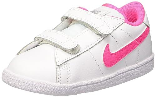 Nike Tennis Classic (TDV), Zapatos de Recién Nacido para Bebés, Blanco/Rosa/Gris (White/Pink Pow-Wolf Grey), 26 EU