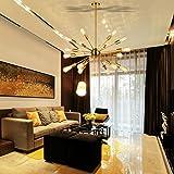 Sputnik Chandelier Brass 18 Light Mid Century