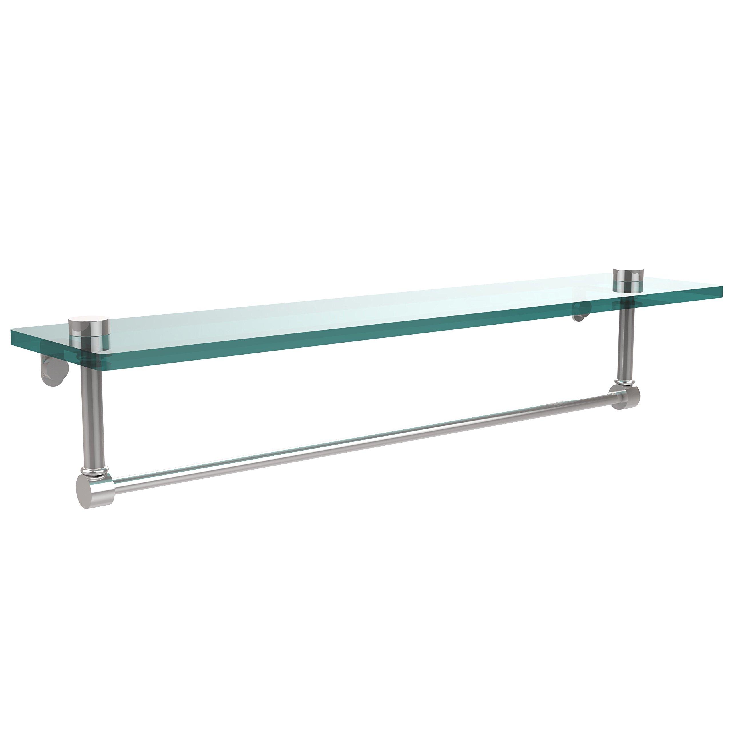Allied Brass NS-1/22TB-PC 22-Inch Glass Shelf with Towel Bar