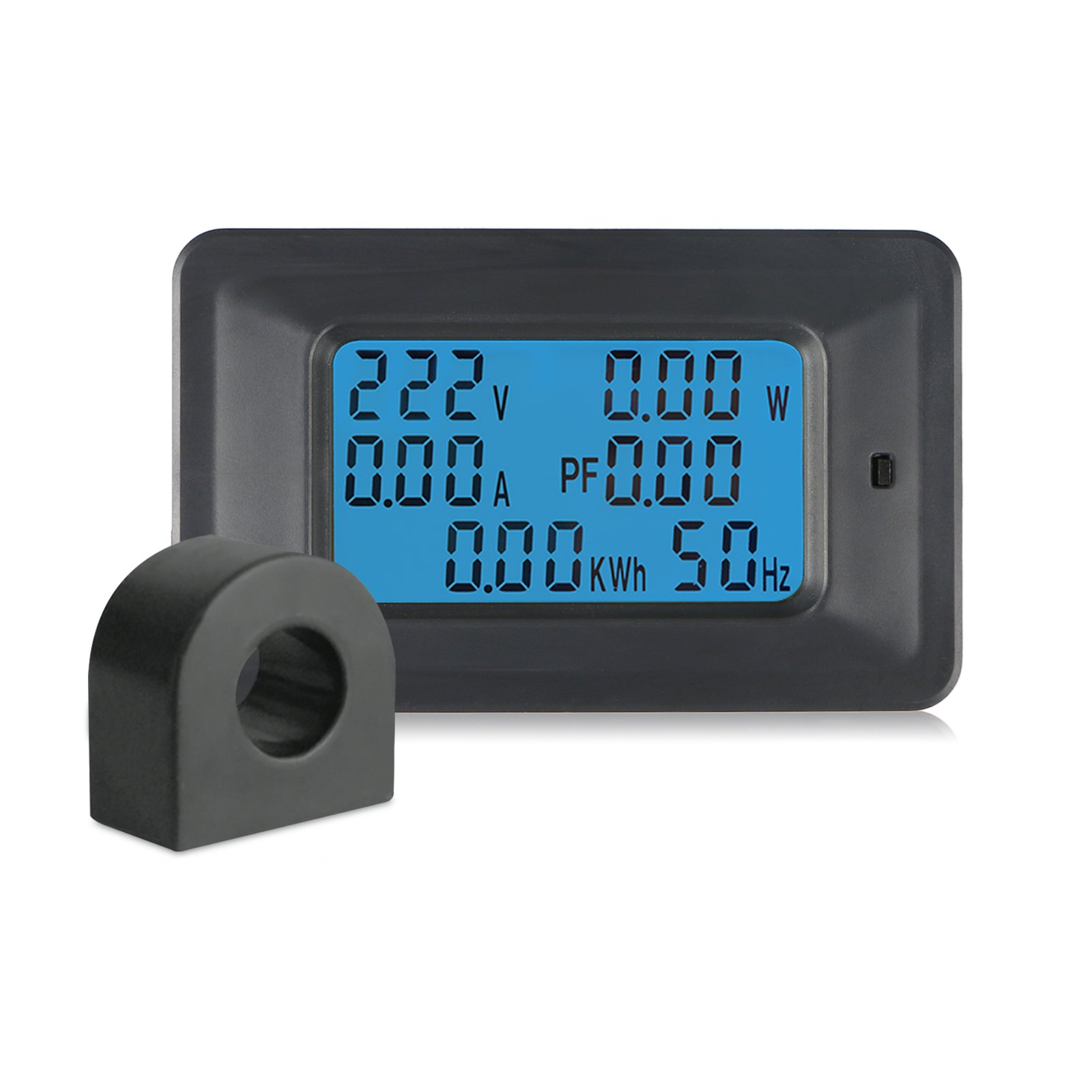 EEEKit AC 110-250V 100A LCD Display Digital Panel Current Voltage Power Energy Multimeter KWh Voltmeter Ammeter, with AC Current Transformer CT