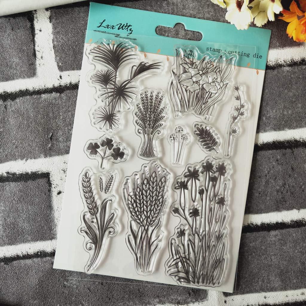 Ladaidra Wheat Spike Silicone Clear Seal Stamp DIY Scrapbooking Embossing Photo Album Decorative Paper Card Craft Art Handmade Gift