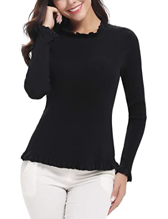 Image Unavailable. Image not available for. Color  Abollria Womens Long  Sleeve Lightweight Turtleneck Top Pullover Sweater 8a79666d8