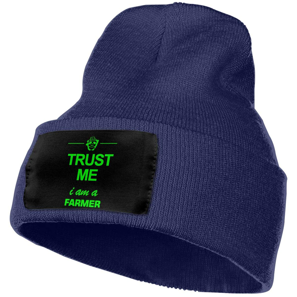 Trust Me I Am Farmer 2 Women and Men Skull Caps Winter Warm Stretchy Knit Beanie Hats