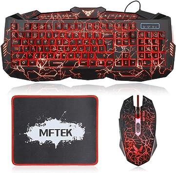 114-Key Adjustment 3 Colors LED Backlit Wired USB Multimedia PC Gaming Keyboard