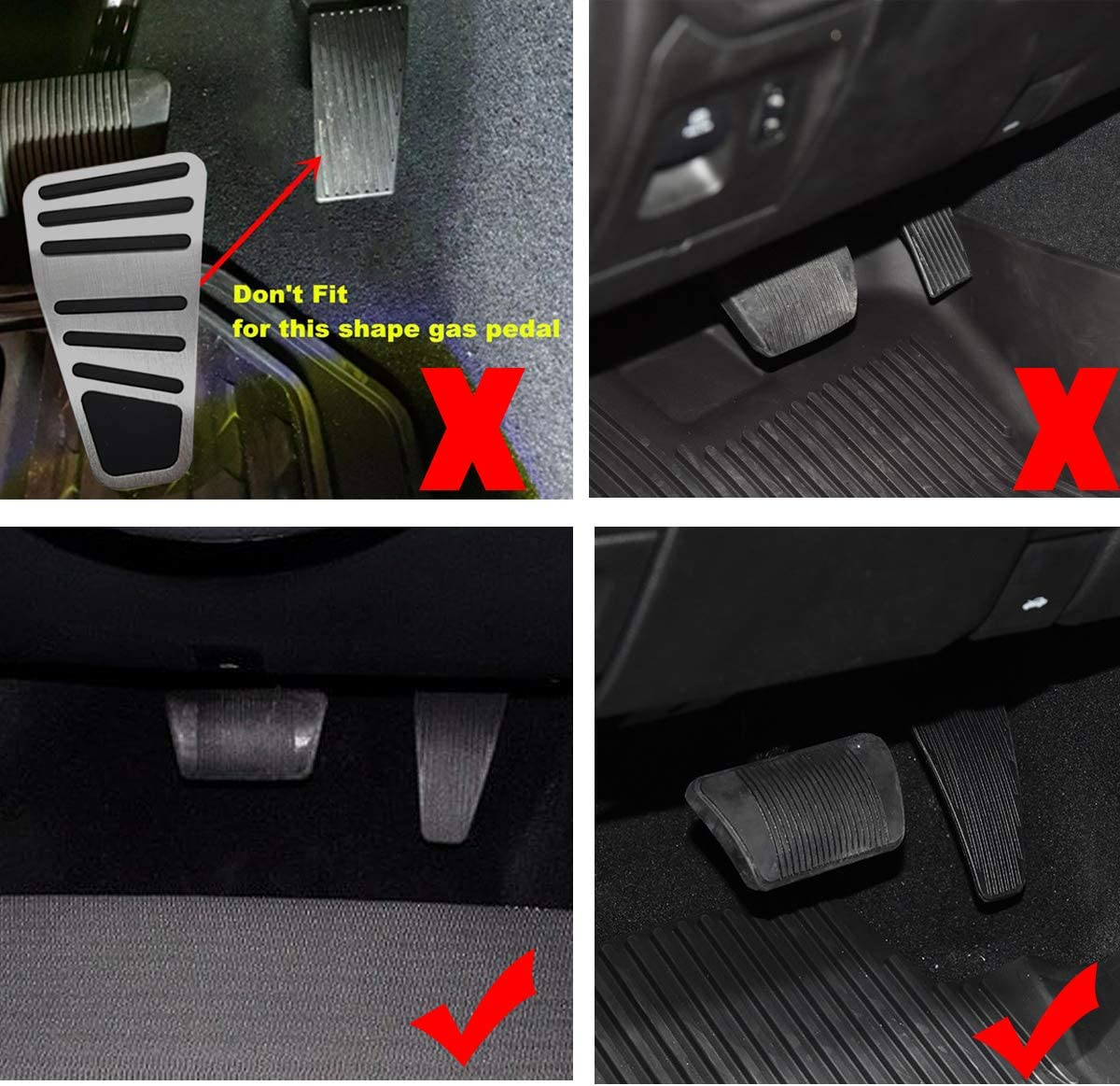 Automatic Transmission Only,3PCS Jaronx No-Drill Pedal Covers for Dodge Ram 1500 2500 3500 2011-2018,Aluminum Alloy Anti-Slip Gas Pedal Cover Break Pedal Pad Gas Fuel Accelerator Pedal Covers