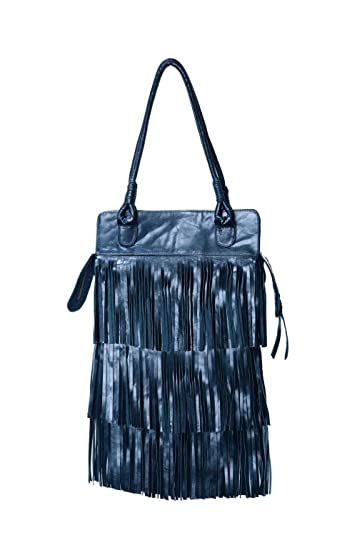 b8effec861 Image Unavailable. Image not available for. Color  Bag3 - Texas Fringe  Black Leather Bag Boho Chic