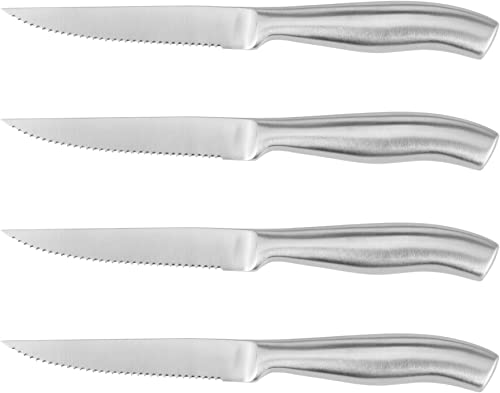 Steak Knives Set of 4 Serrated Stainless Steel,Dishwasher safe