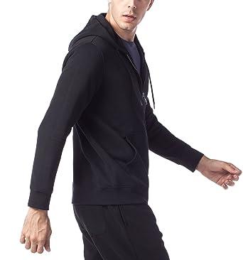 ccff66f3159f4 LAPASA Sweat à Capuche Homme Zippé Veste Sweat Shirt Doublure en Laine  Polaire Molleton - Noir Gris Chaud et Respirant M20: Amazon.fr: Vêtements  et ...