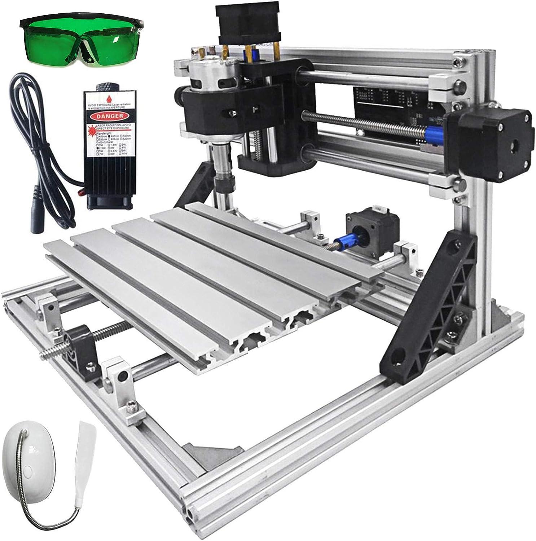 DIY Kit De Gravure 3 Axes Profil/é daluminium 2020 Machine de Gravure 2500 mW VEVOR Kit De Routeur Avec Graveur Laser CNC 300 x 180 mm Gravure au Laser Tableau de contr/ôle GRBL Pour Bois PVB