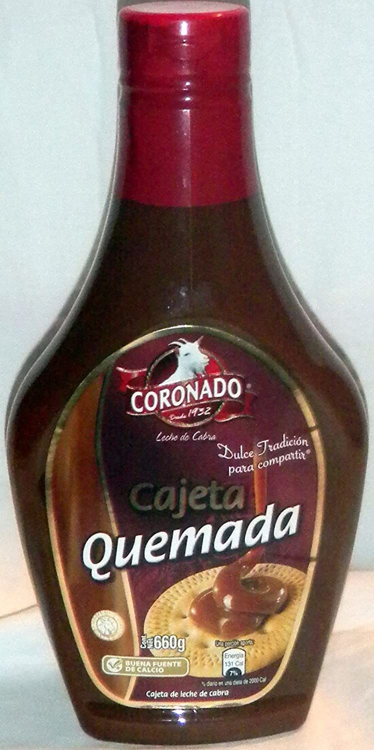 Amazon.com : Coronado Cajeta Quemada Leche De Cabra Dulce Goat Milk Candy 23oz From Mexico : Caramel Candy : Grocery & Gourmet Food