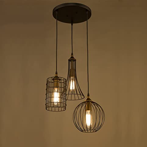 Yobo lighting antique 3 lights oil rubbed bronze chandelier with yobo lighting antique 3 lights oil rubbed bronze chandelier with wire cage greentooth Image collections