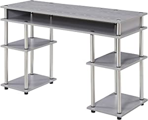 Convenience Concepts Designs2Go No Tools Student Desk, Gray