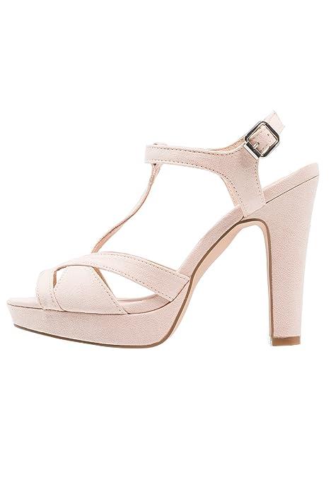 Anna Field Sandalias de Gamuza para Mujer - Sandalias Elegantes de Fiesta  con Tacón Alto - Cómodos Zapatos de Plataforma - Tacones de Piel de Ante   ... 94053a47c7ee