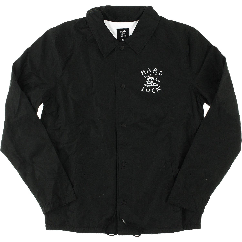 Hard Luck Mfg OGブラックCoaches Jacket – Large B078JQ7826