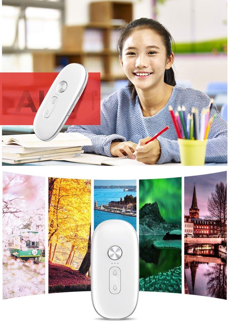 Salange Iflytek Electronic Pocket Voice Translator Chinese and English, Smart In Real Time Language Translator for Learning,Travel, Shopping,Business by Iflytek