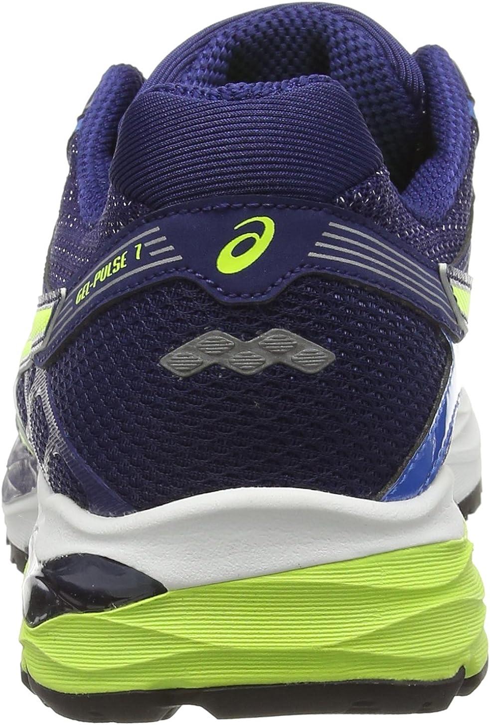 ASICS Gel-Pulse 7, Zapatillas de Running para Hombre, Azul (Electric Blue/Flash Yellow/Ind 3907), 44.5 EU: Amazon.es: Zapatos y complementos