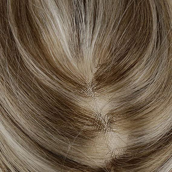 LaaVoo 10 Pulgadas Hair Toppers para Mujeres 100% Real Remy ...