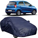 The Autostory 190T Water Resistant Car Body Cover Suitable for Hyundai Santro Xing (2018/2019) with Mirror Pockets (NavyWP/Navy Blue)