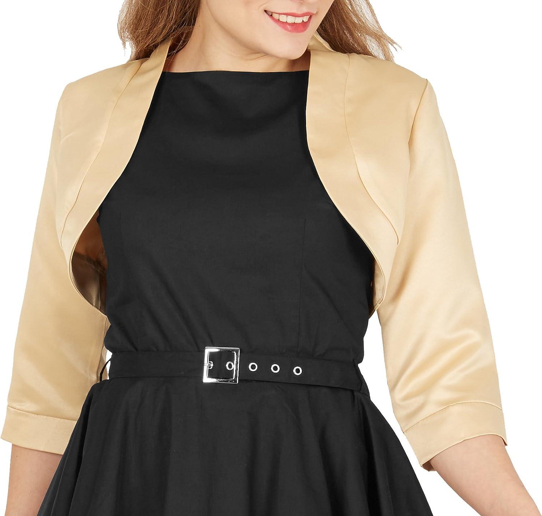 Half Sleeve BlackButterfly Satin Bolero Jacket