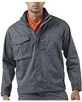 Russell Mens Polycotton Twill Jacket Cadet Collar Storm Flap Full Zip Workwear