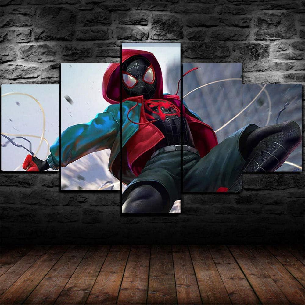 45Tdfc 5 Piezas Spider: en la Ciudad de Spider-Verse Fondo Pintura de la Pared La impresión de la Imagen en la Lona Art Fotos de la Obra para la Decoración Moderna del Ministerio del Interior