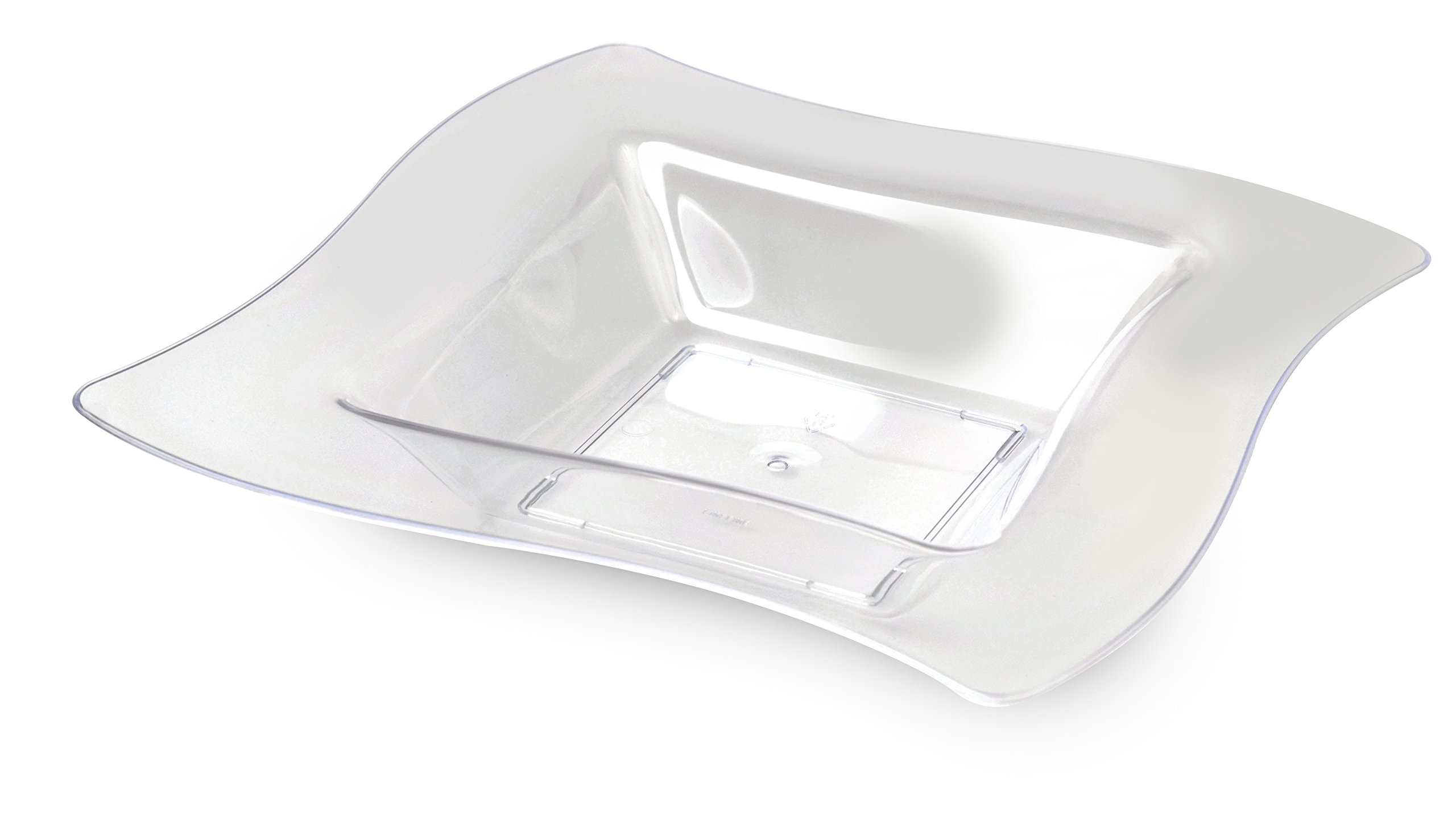 Fineline Wave trends 12 oz Bowl (Case of 120) (10 x 12), Clear